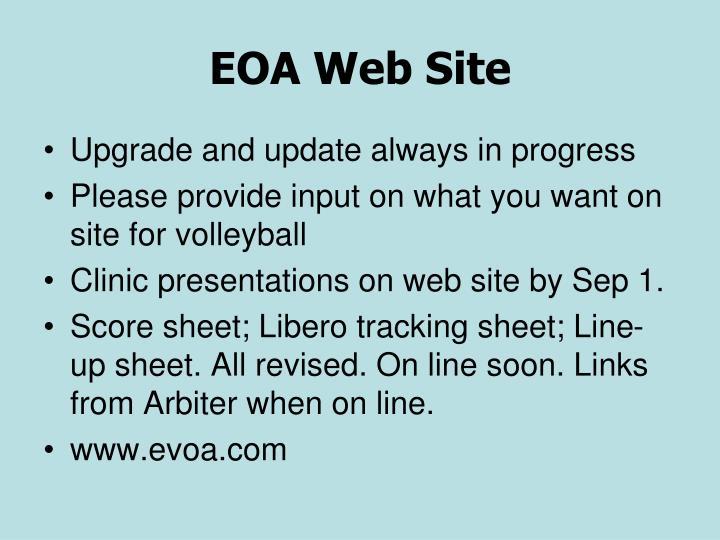 EOA Web Site