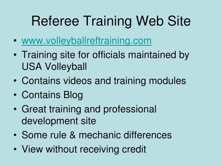 Referee Training Web Site