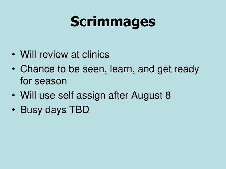 Scrimmages