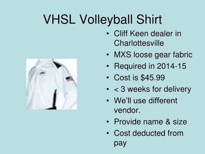 VHSL Volleyball Shirt