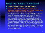 israel the people continued10