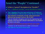 israel the people continued13