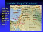 israel the people continued2