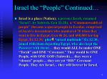 israel the people continued3