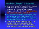 israel the people continued4