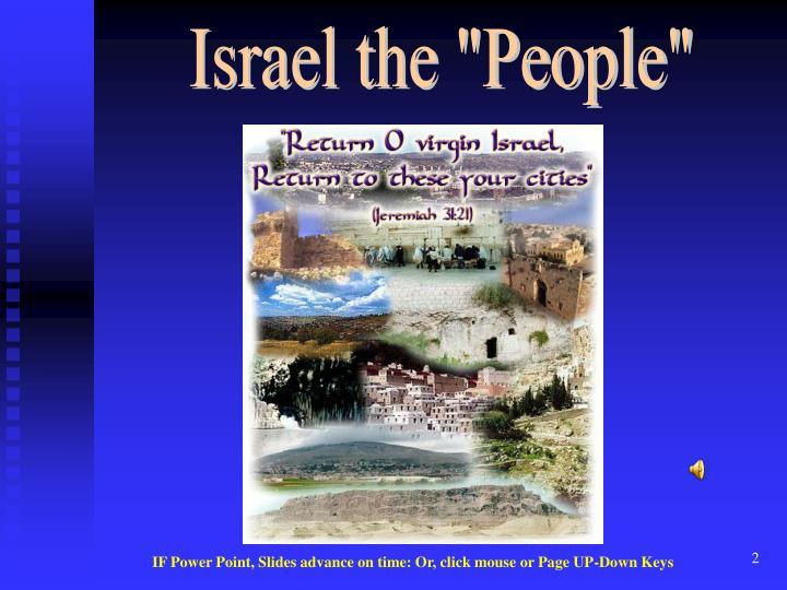 "Israel the ""People"""