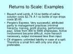 returns to scale examples