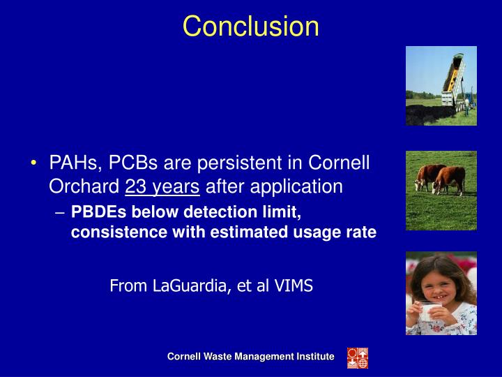 PAHs, PCBs are persistent in Cornell Orchard