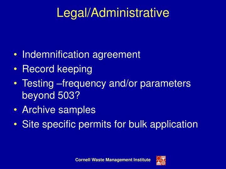 Legal/Administrative