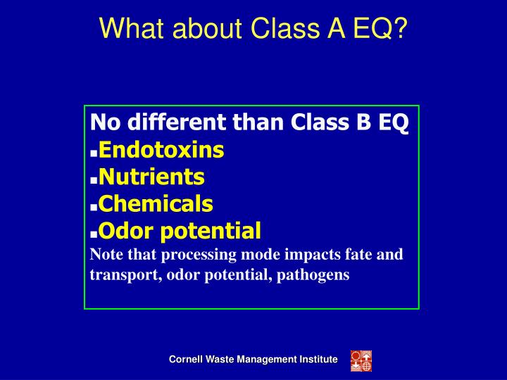 What about Class A EQ?