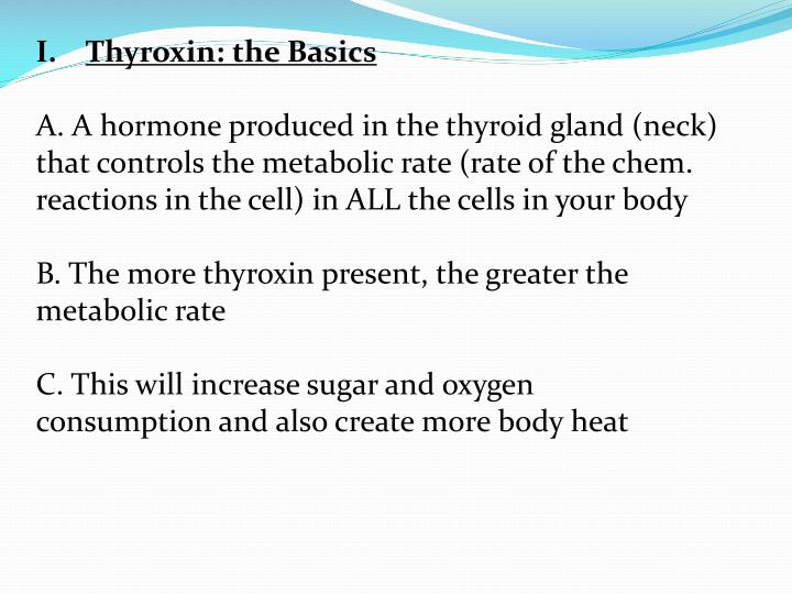 Thyroxin: the Basics