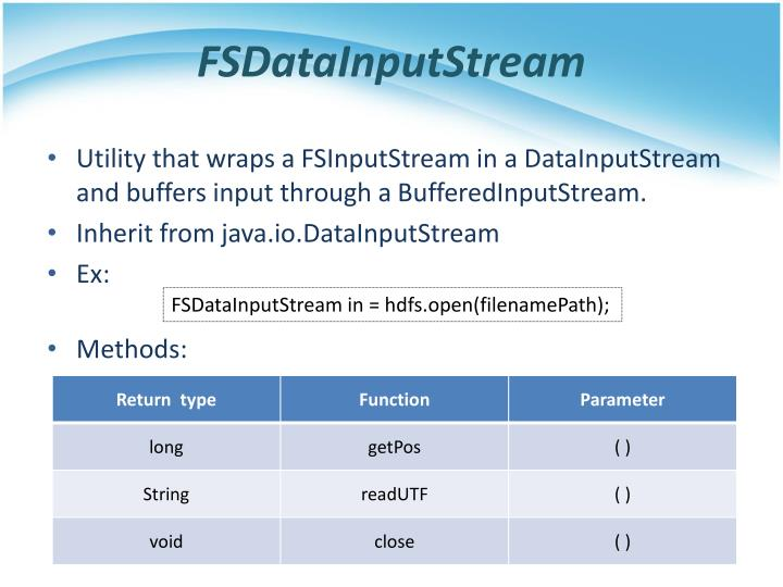 FSDataInputStream