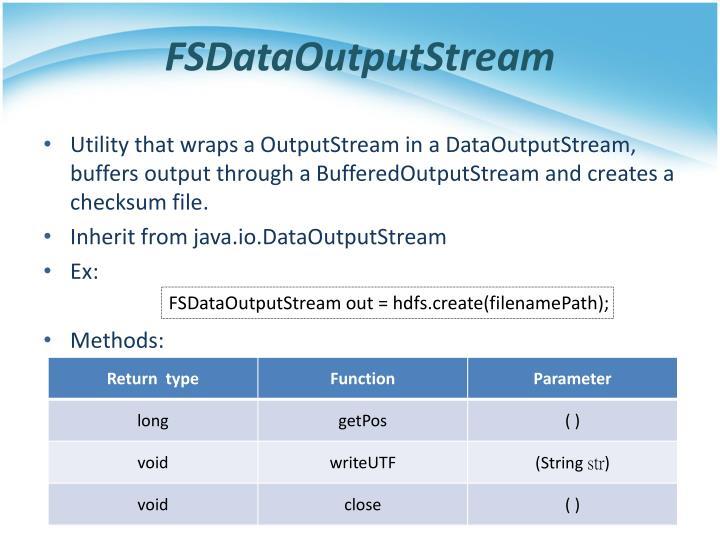 FSDataOutputStream
