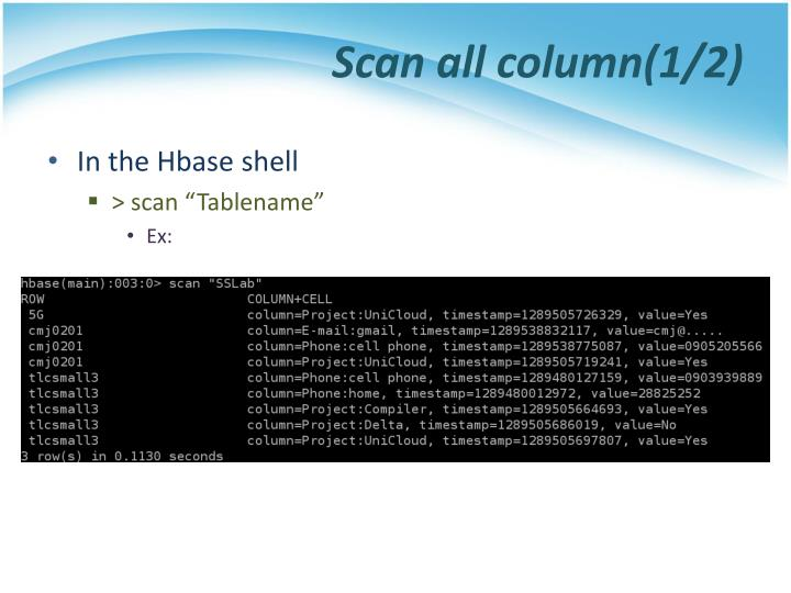 Scan all column(1/2)