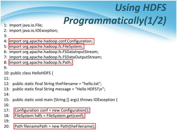 Using HDFS Programmatically(1/2)