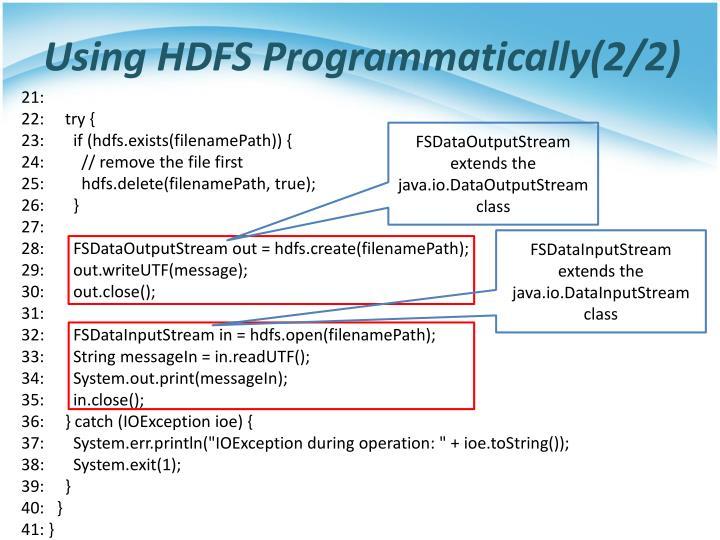 Using HDFS Programmatically(2/2)