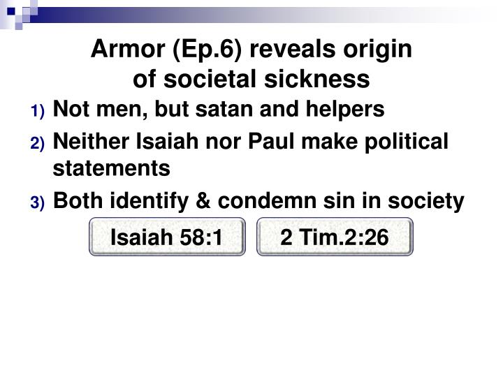Armor (Ep.6) reveals origin