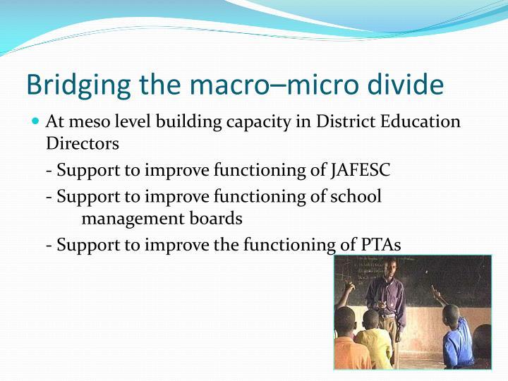 Bridging the macro–micro divide