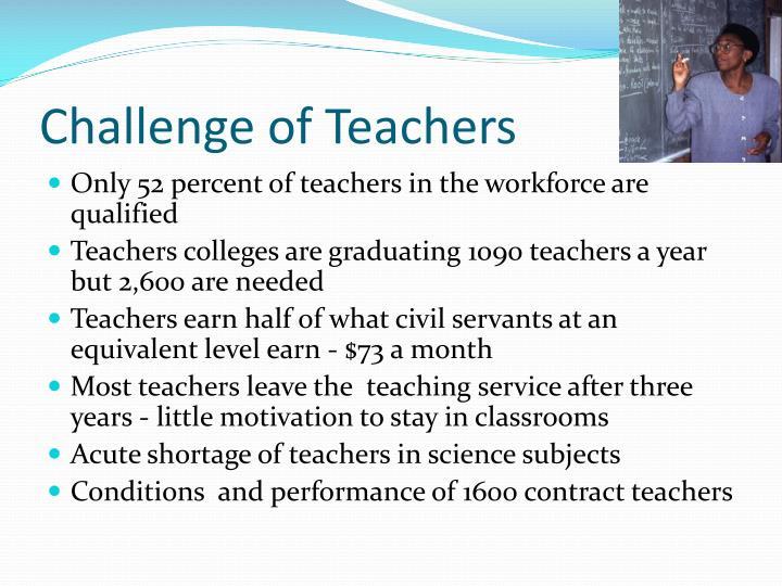 Challenge of Teachers