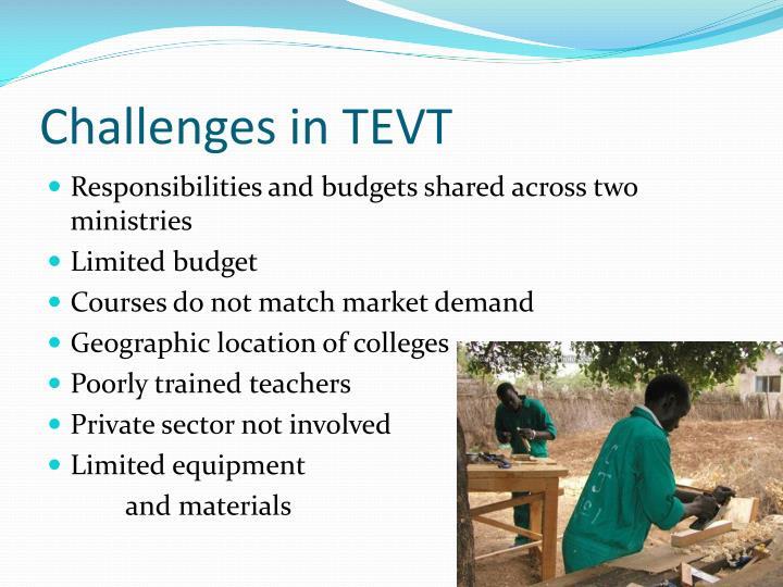 Challenges in TEVT