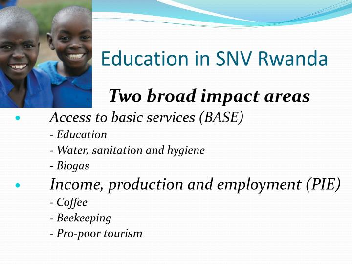 Education in SNV Rwanda