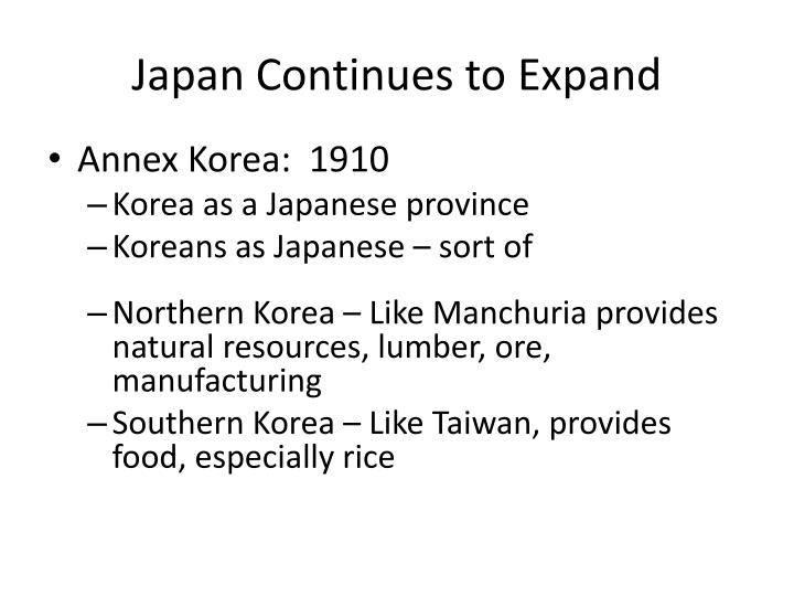 Japan Continues to Expand