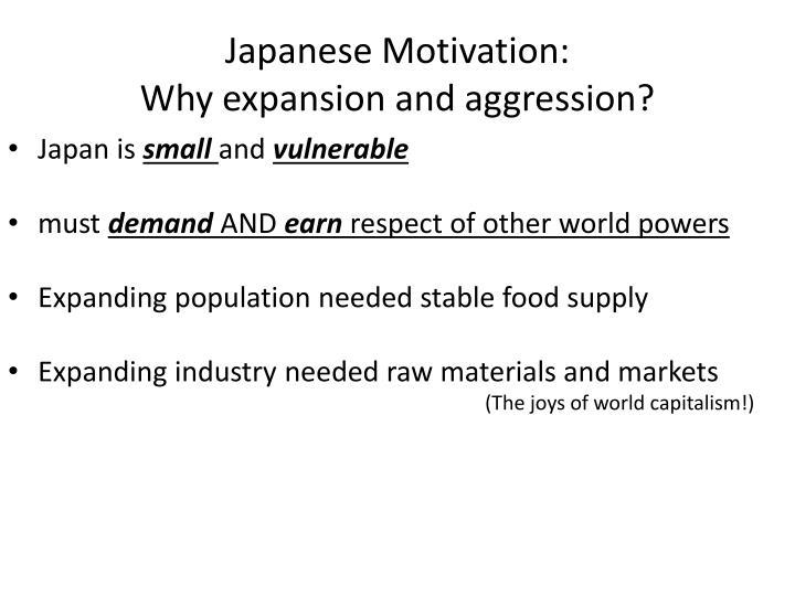 Japanese Motivation: