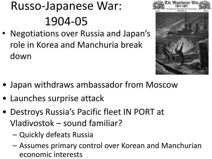 Russo-Japanese War: 1904-05