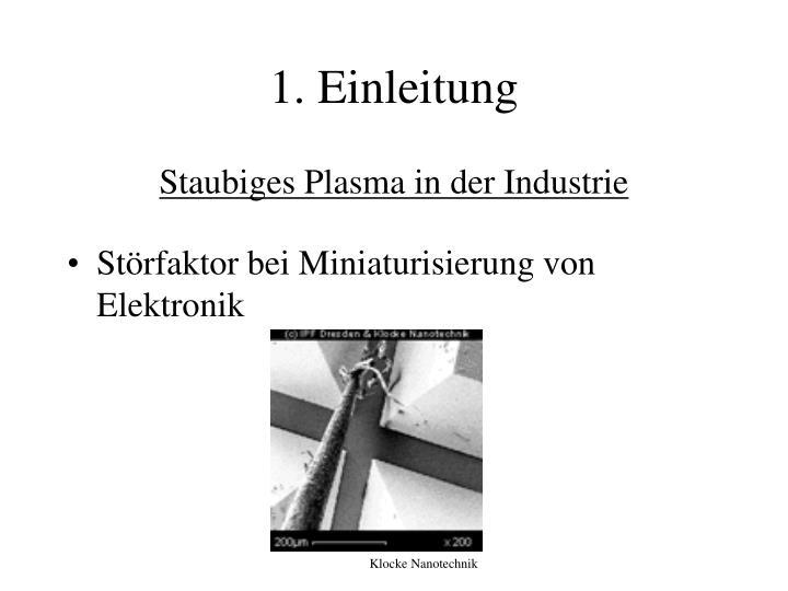 Staubiges Plasma in der Industrie