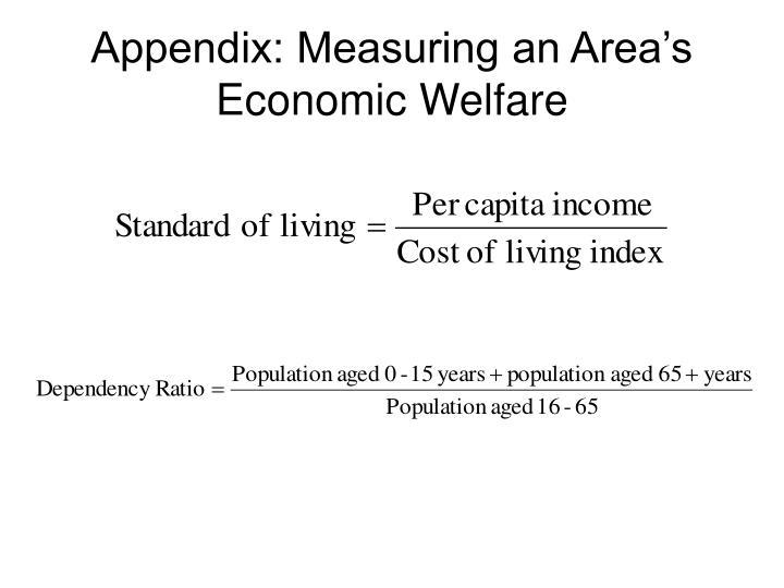 Appendix: Measuring an Area's Economic Welfare