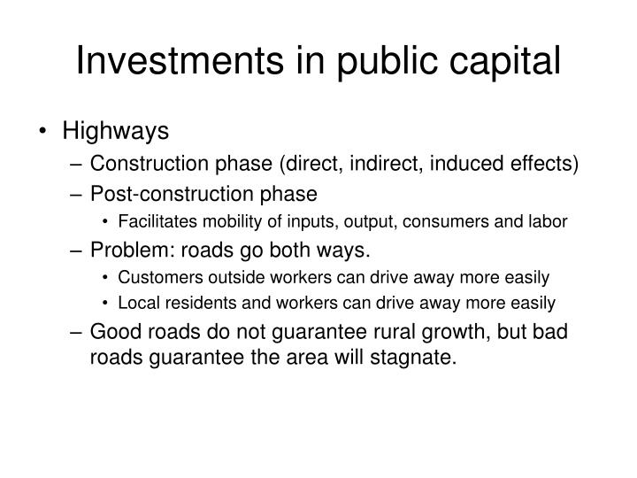 Investments in public capital