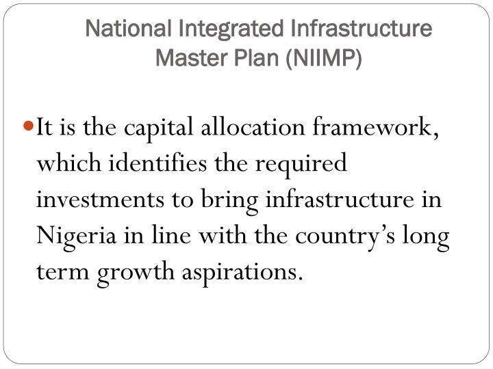 National Integrated Infrastructure Master Plan (NIIMP)