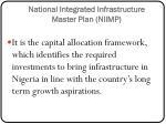 national integrated infrastructure master plan niimp