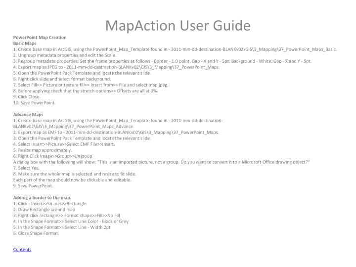 PowerPoint Map Creation