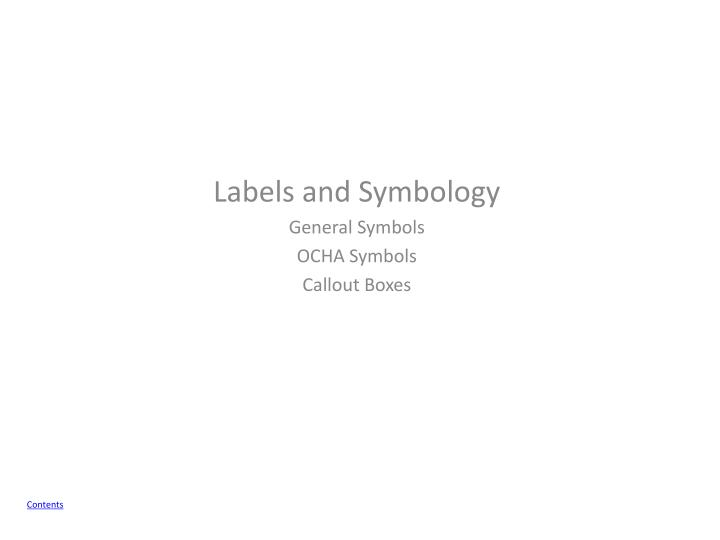 Labels and
