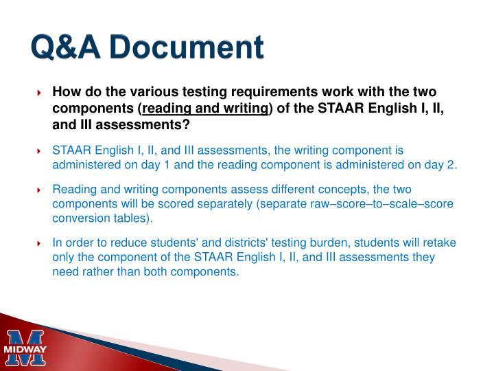 Q&A Document