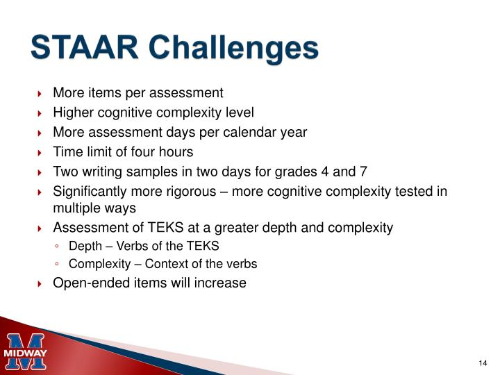 STAAR Challenges