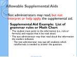 allowable supplemental aids