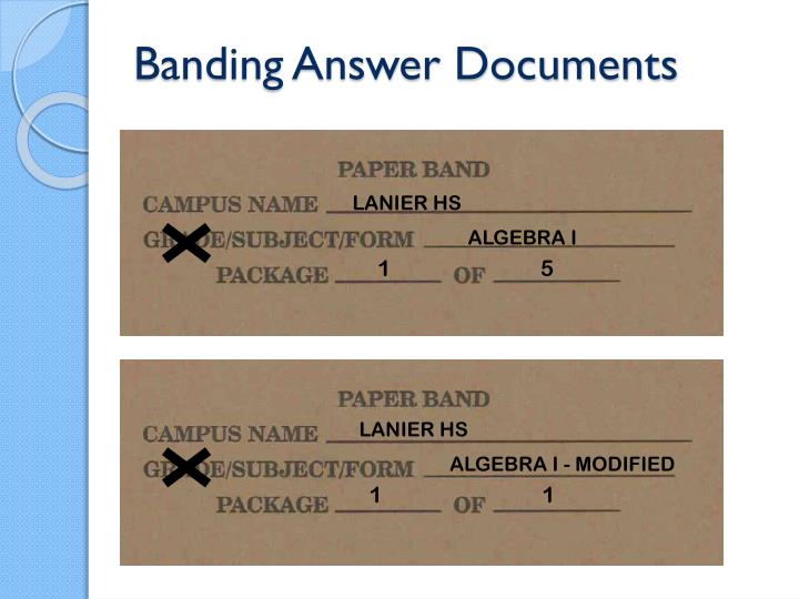 Banding Answer Documents