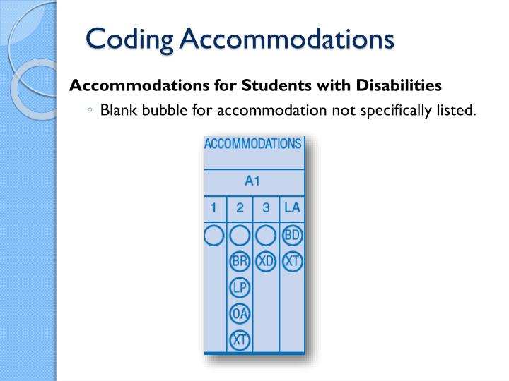 Coding Accommodations