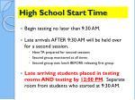 high school start time