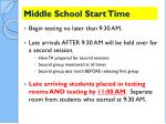 middle school start time