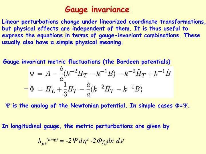 Gauge invariant metric fluctuations (the Bardeen potentials)