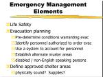 emergency management elements10
