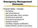 emergency management elements11