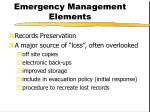 emergency management elements12