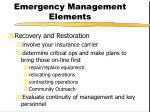 emergency management elements14