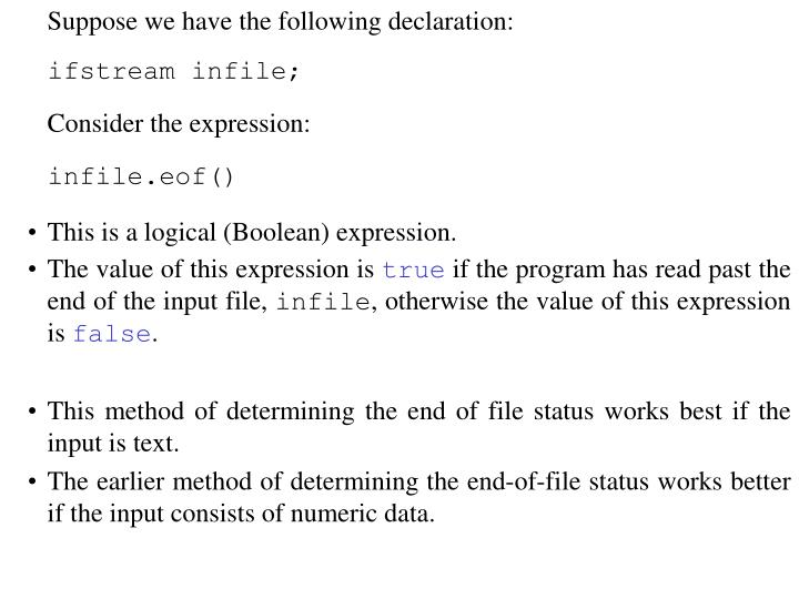 Suppose we have the following declaration: