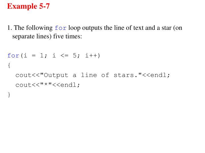 Example 5-7