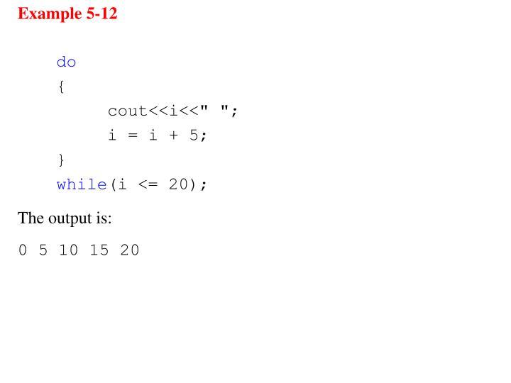 Example 5-12